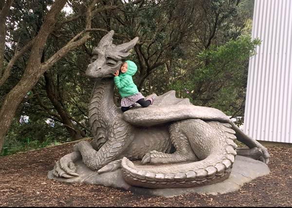Dragon Statue at the Wellington Zoo, New Zealand