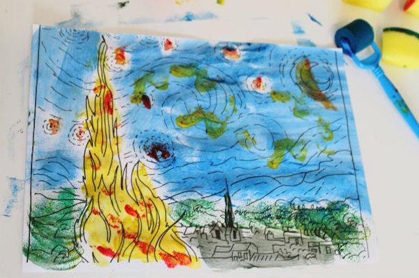 In the playroom van gogh painting