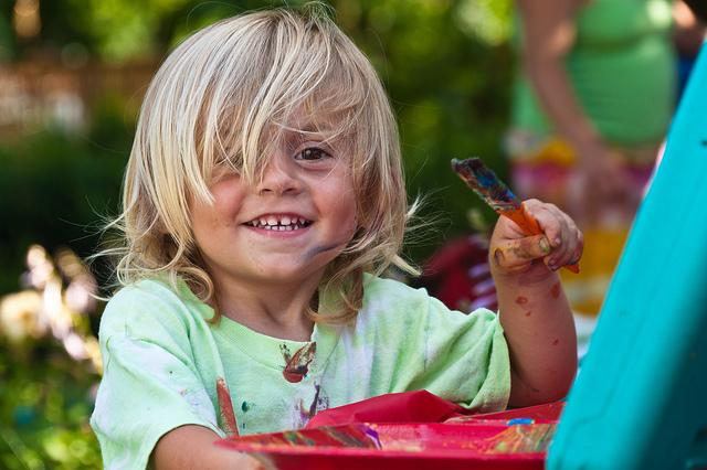Kid with paintbrush 2