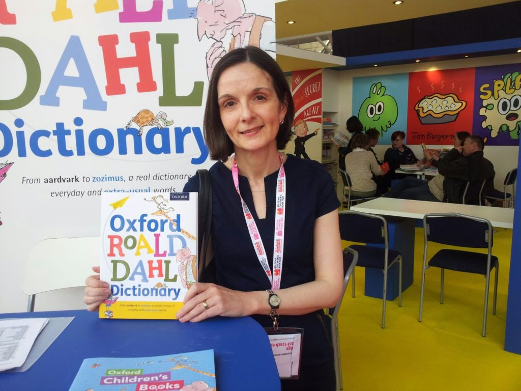 Susan with dictionary Roald Dahl