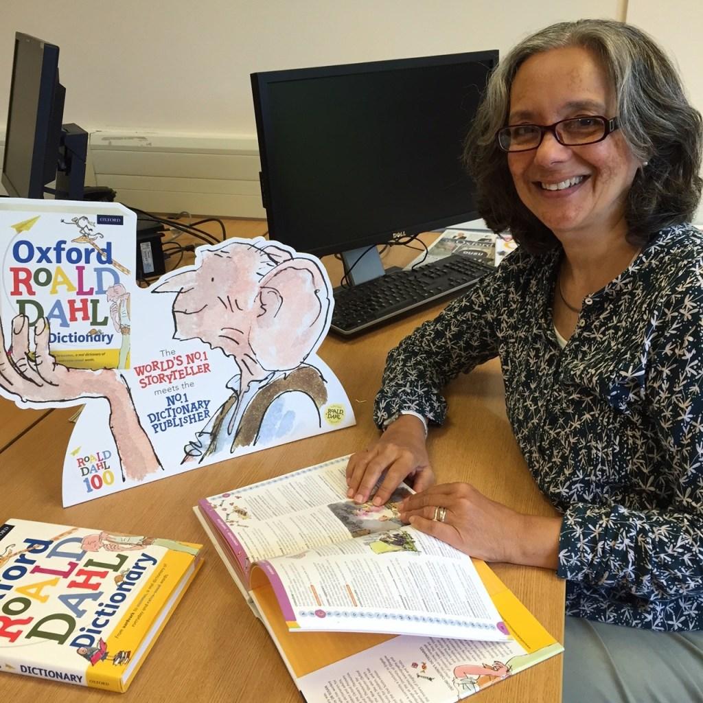 Vineeta with Roald Dahl dictionary