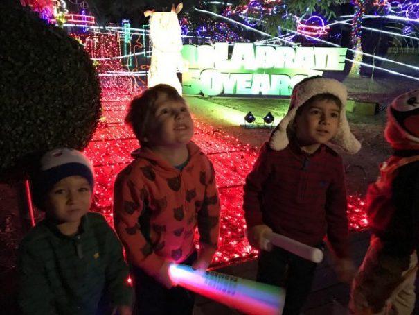 Boys with Christmas Greeting