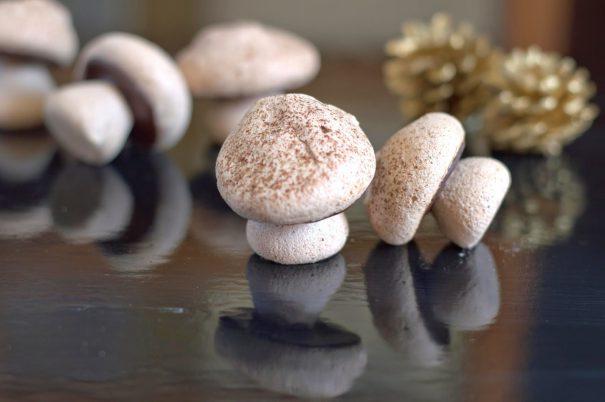 Cocoa Meringue Mushrooms