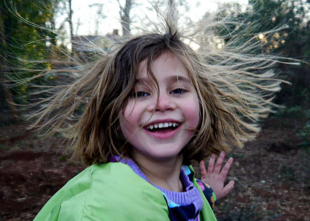 static electricity girl