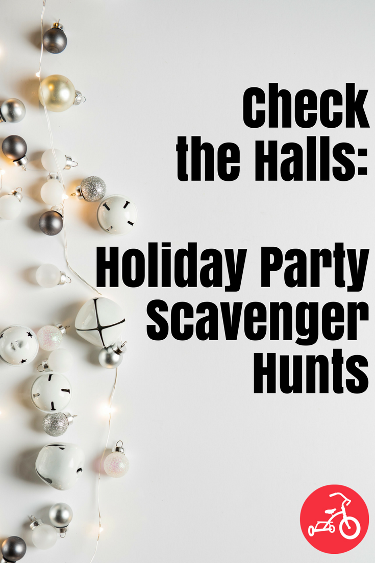 Holiday party scavenger hunts