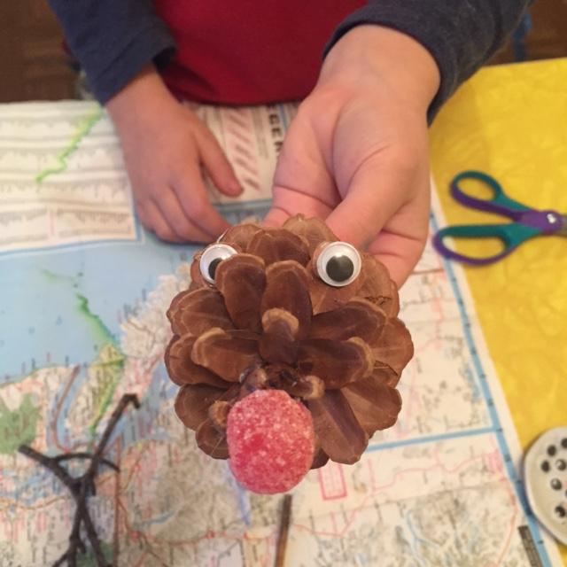 pinecone reindeer 3