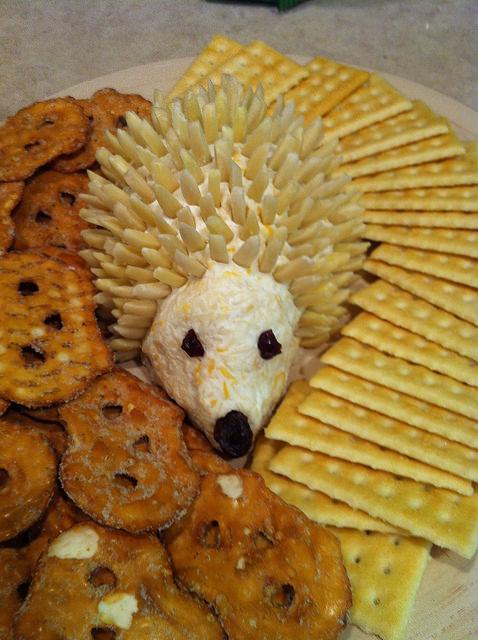 hedgehog cheese snack