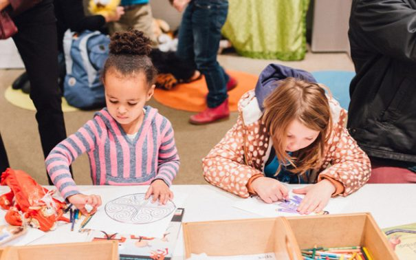 In honor of the Japanese Holiday Hinamatsuri, or Girls Day, enjoy dress up and story time, and make your own artwork inspired by the Japanese doll display on view!