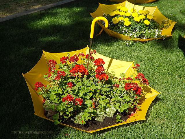 umbrella planter