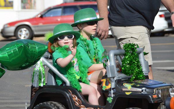 Kids in St Patricks Day parade