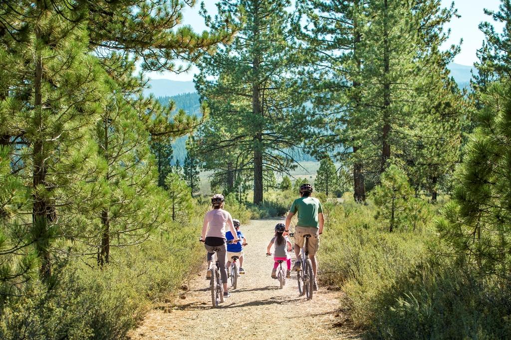 Family Biking at Lake Tahoe