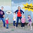Superhero family via Paging Supermom