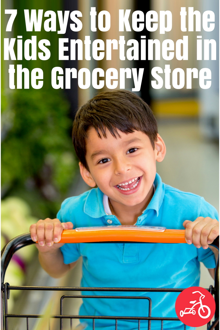 keep kids entertained at the grocery store