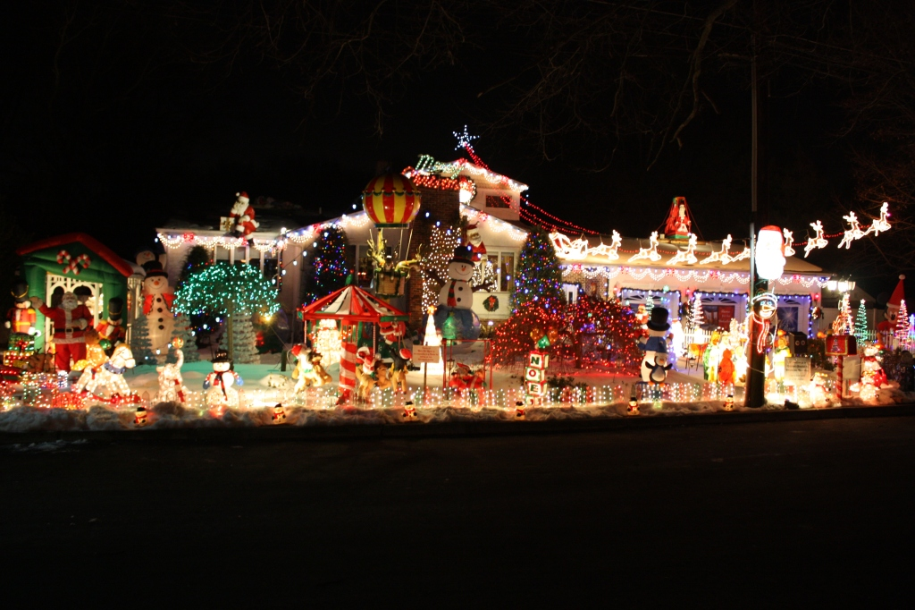 christmas lights, holiday lights, decorated houses, holiday traditions