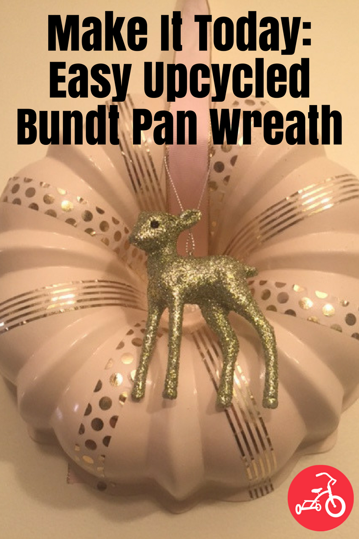 upcycled bundt pan wreath