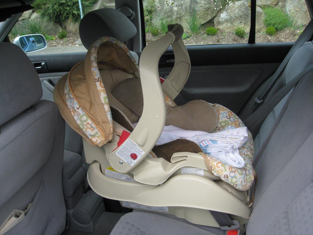 car seat on stove