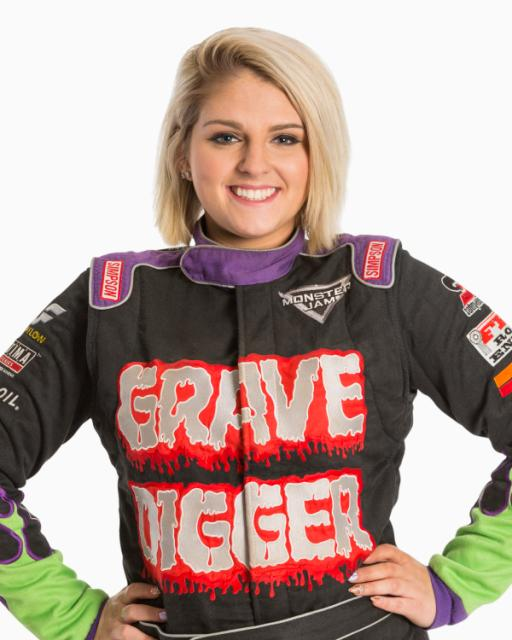 First Female Digger Driver at Monster Jam