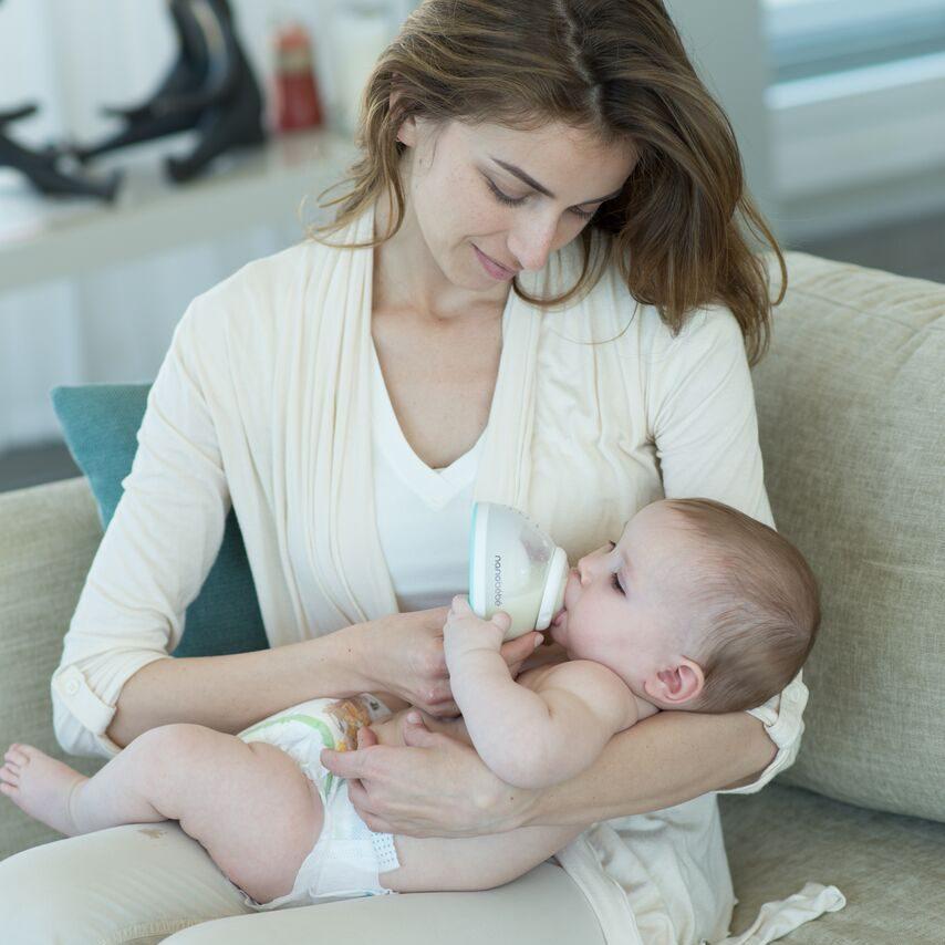 nanobebe breastmilk bottle design mother's breast