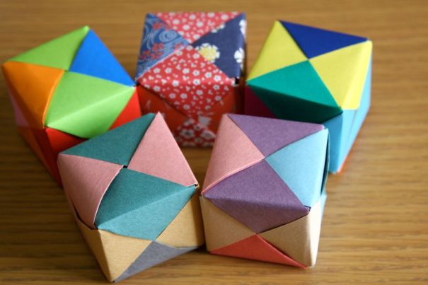 How to Make a Modular Origami Cube Box | 404x605