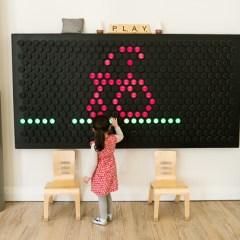 Rec Room LED Wall by Anita Chu