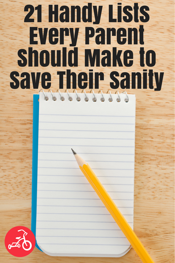 21 Handy Lists Every Parent Should Make to Save Their Sanity