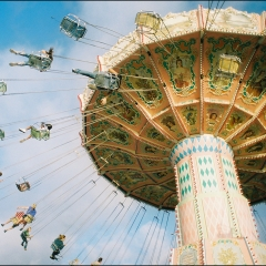 swings, festival, fair, rides