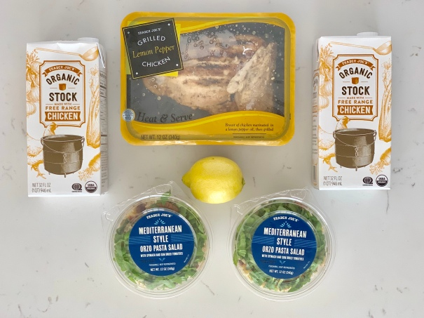 Lemon chicken, chicken brother and spinach. Photo taken by Karly Wood