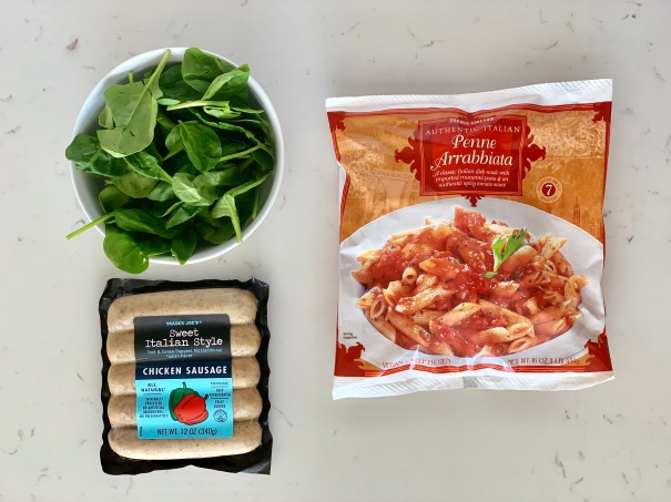 Penne Arrabiata with Sausage & Spinach