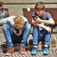 kids on their phones and texting
