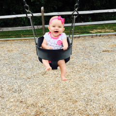 playground, baby girl, swing, swinging