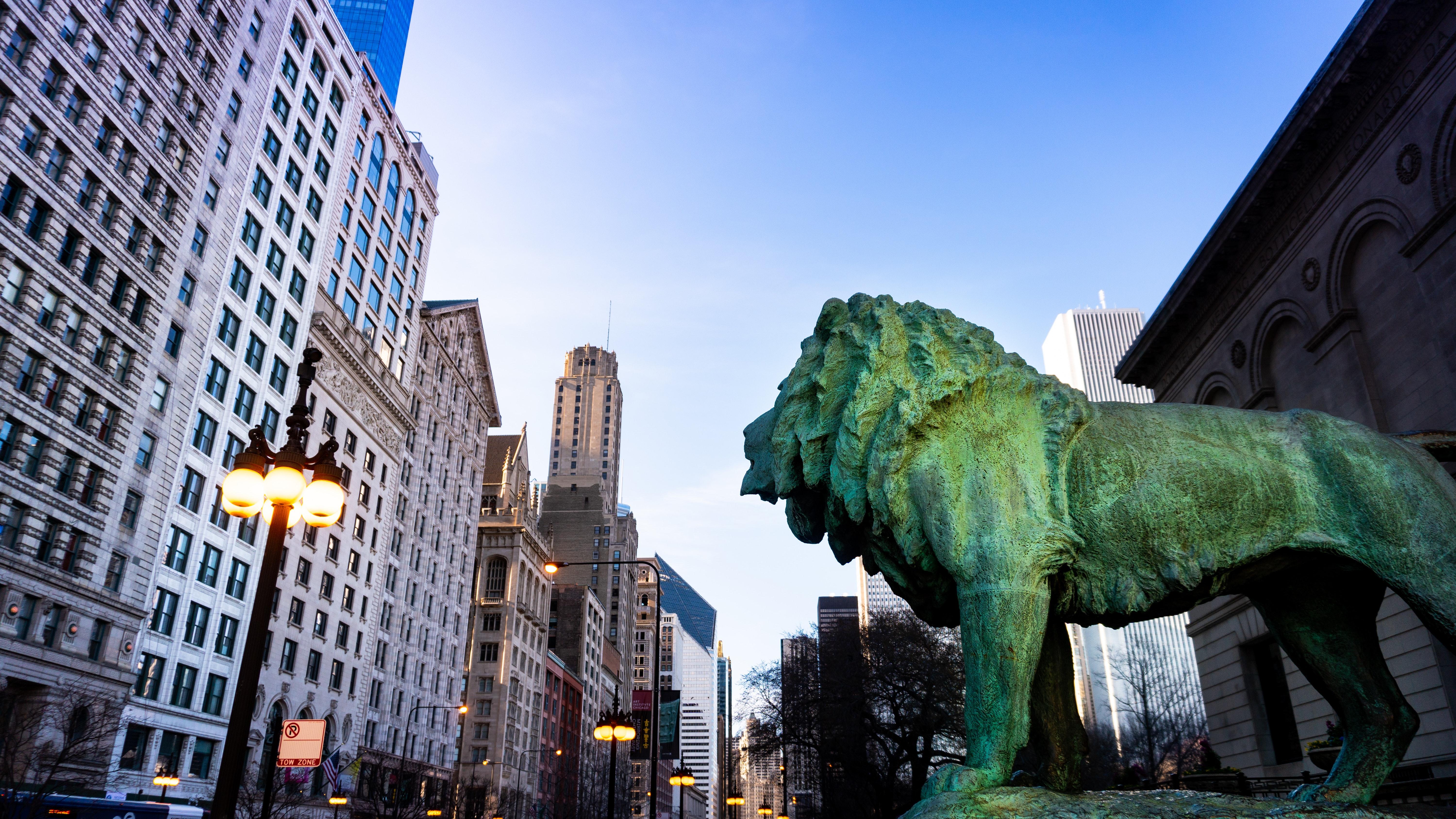 Art Institute Chicago Lion via Pexels