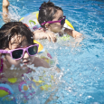swimming siblings, pool time, summer, girls, toddlers, sisters, splashing