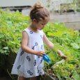 kid gardening in summer