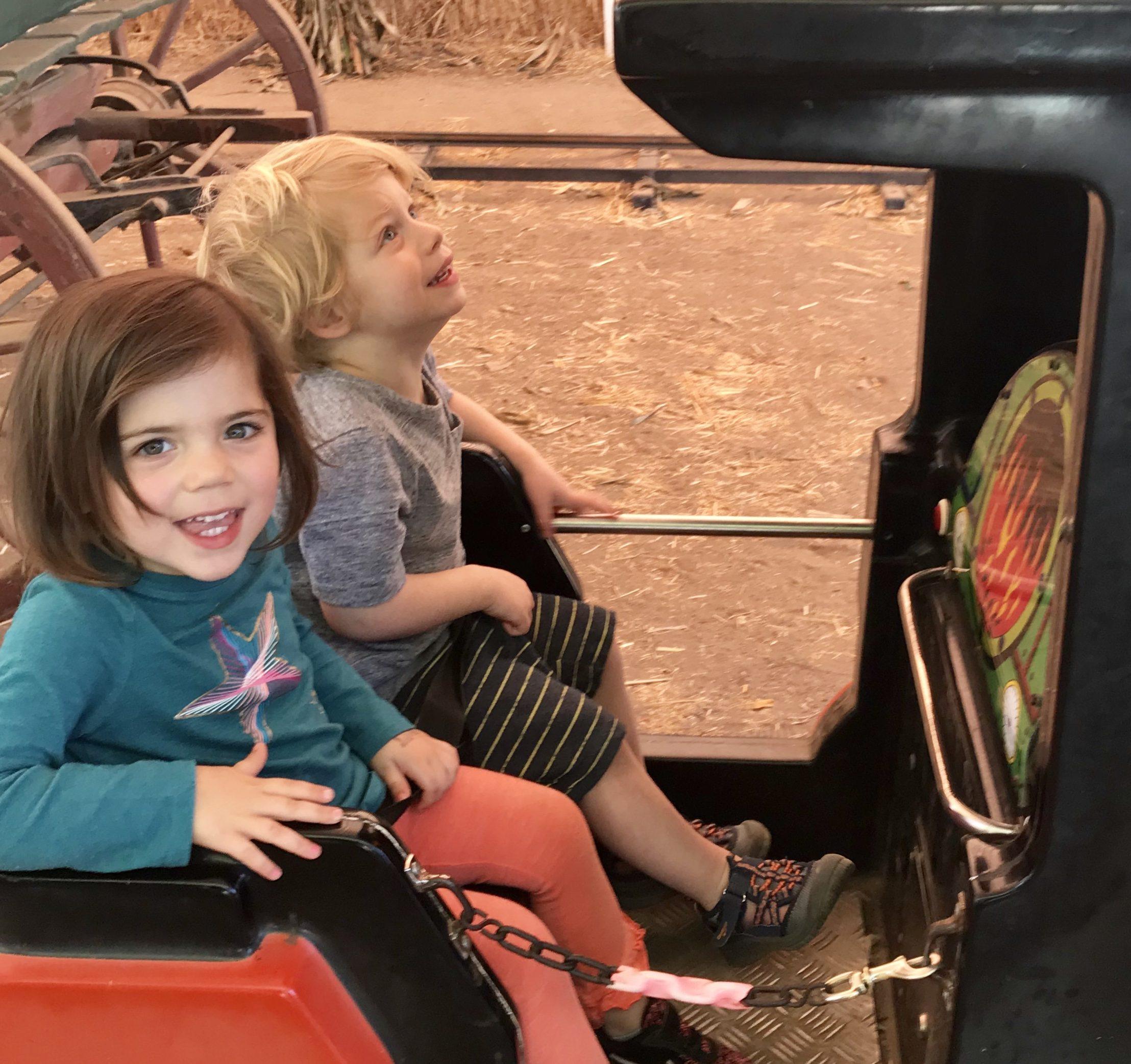 mini train ride underwood farms