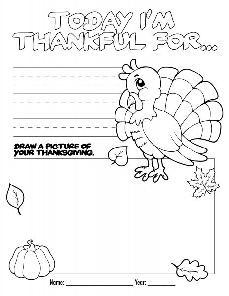 8 Best Images of I AM Thankful For Printable Coloring Pages - I AM ... | 600x464