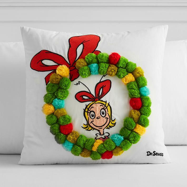 cindy lou pom pom pillow cover o.'