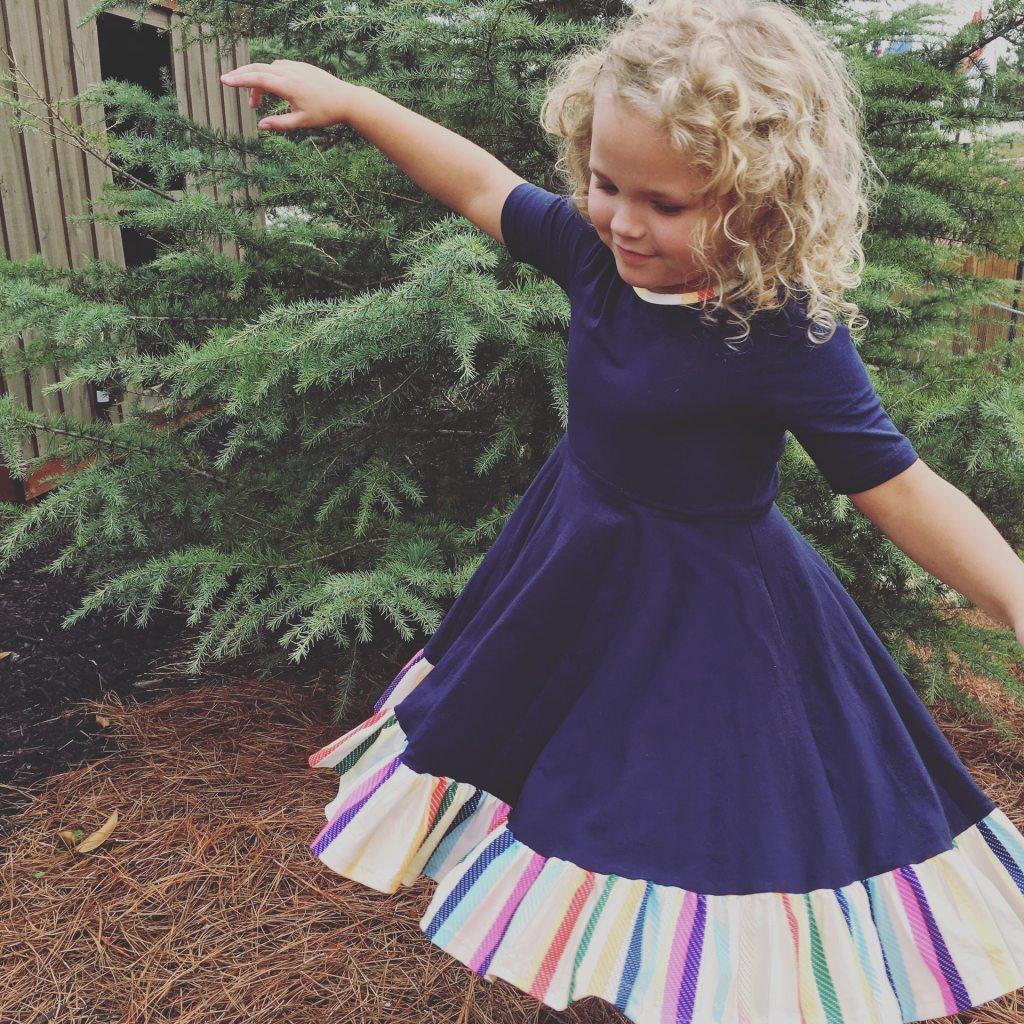 outdoors play, toddler girl, dress