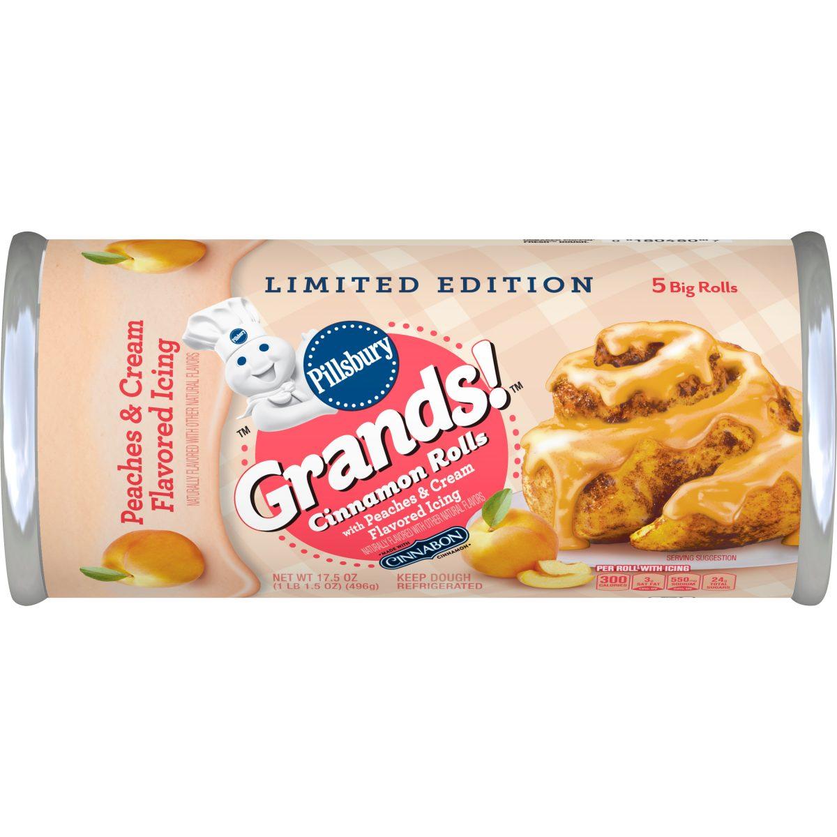 Pillsbury Grands! Cinnamon Rolls with Peaches & Cream Flavored Icing