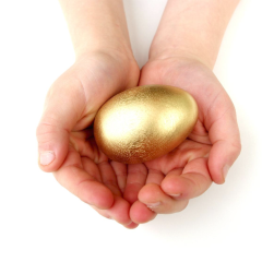 Golden Egg, Easter basket
