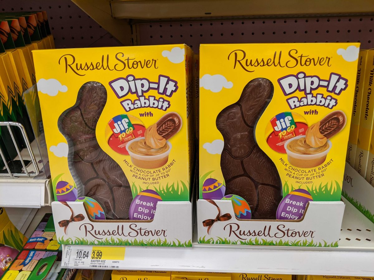 Russell Stover Easter Milk Chocolate Dip-It Rabbit