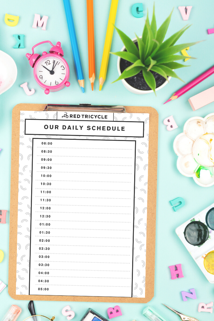 Free Printable Chore Chart And Daily Routine Blank Templates