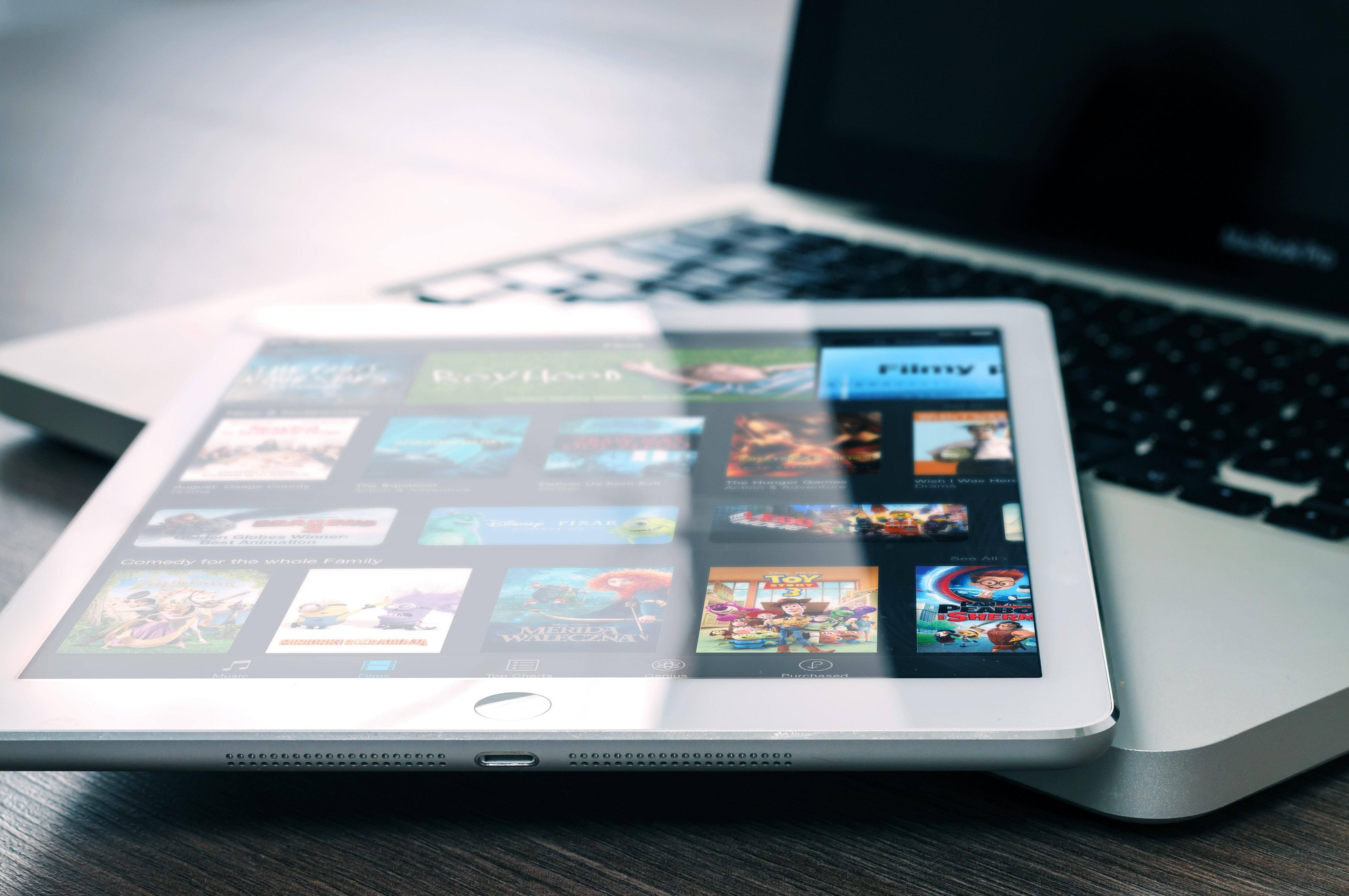 Tableta de transmisión de películas