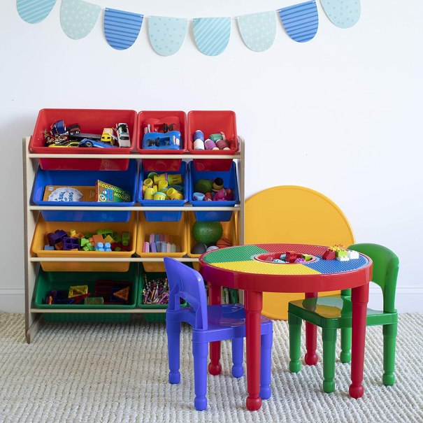 9 Awesome Lego Table Storage Ideas, Lego Table With Chairs And Storage