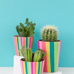 DIY-striped-tissue-paper-wrapped-pots