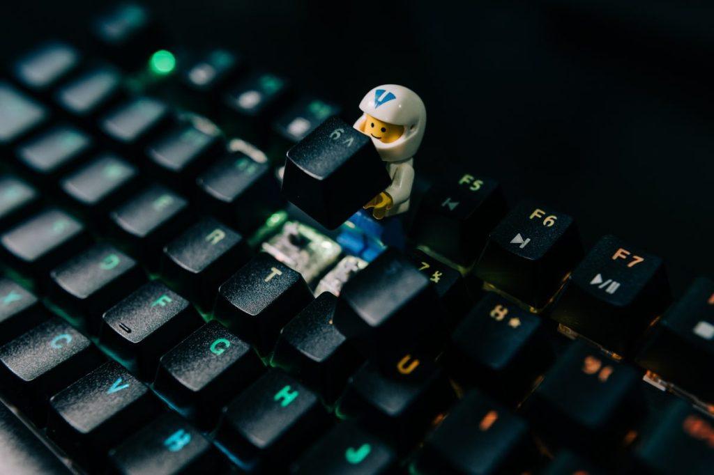 Lego figure keyboard