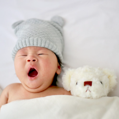 sleeping baby, yawning, nap time, bedtime