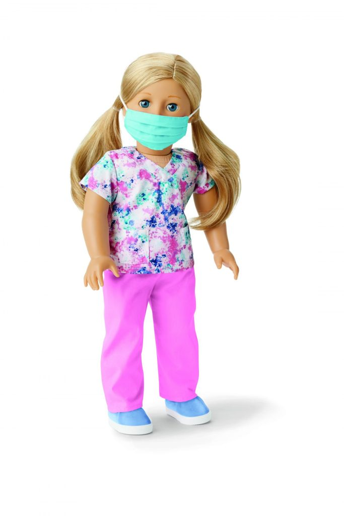 American Girl - scrubs/mask