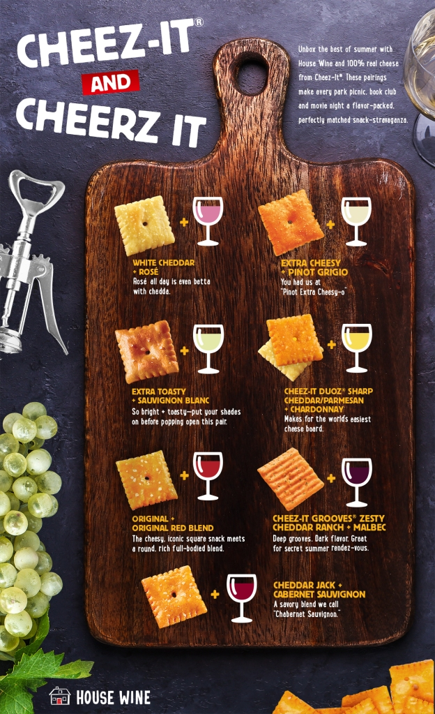 Cheez-It and Wine box