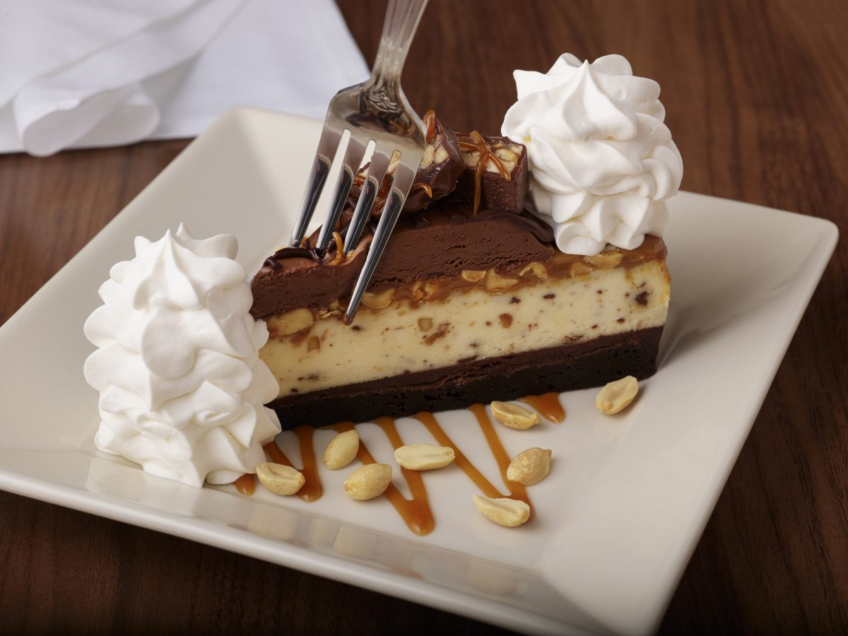 Try The Cheesecake Factory's New Chocolate Caramelicious Cheesecake Made with Snickers