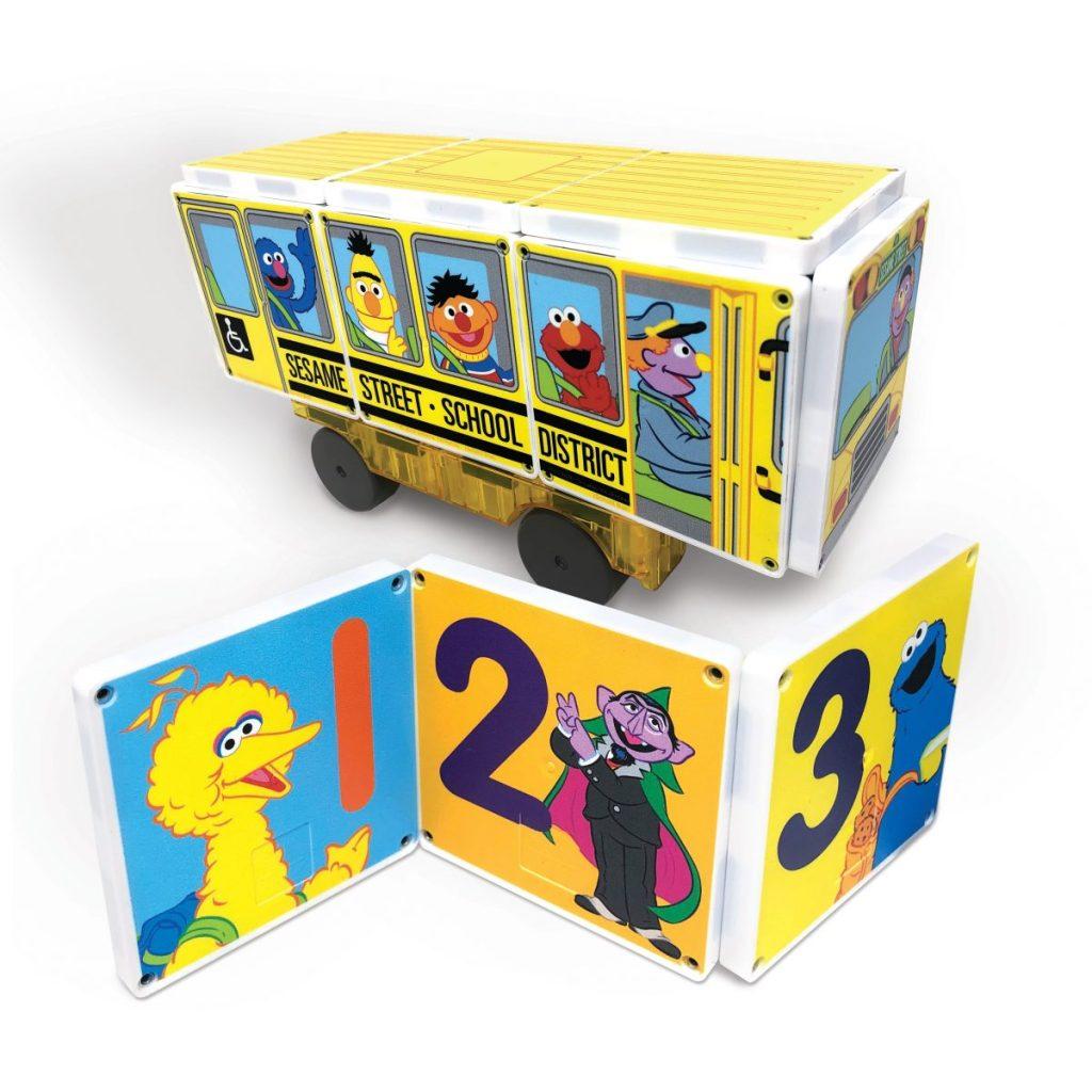 Sesame Street School Bus Magna-Tiles